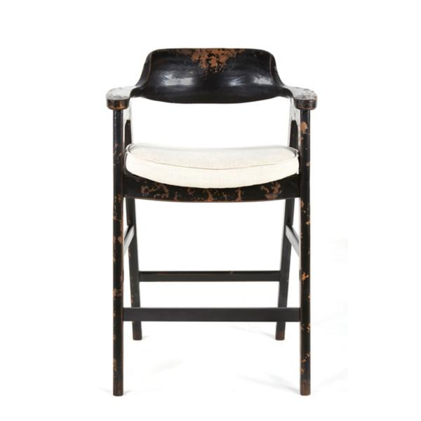 Wagner Black Frame Bar Stool With Sand Seat
