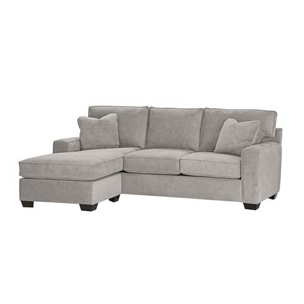 Monty 2-Piece Sofa with Floating Chaise - IRON
