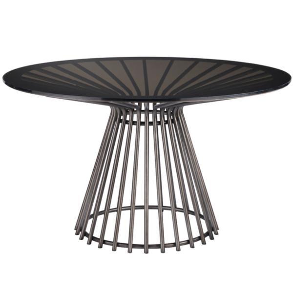 Nina Magon 54inch Serrano Glass Top Table