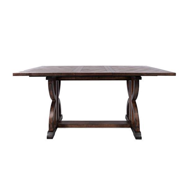 Fairview 42 X 60 Counter Height Table - DARK OAK