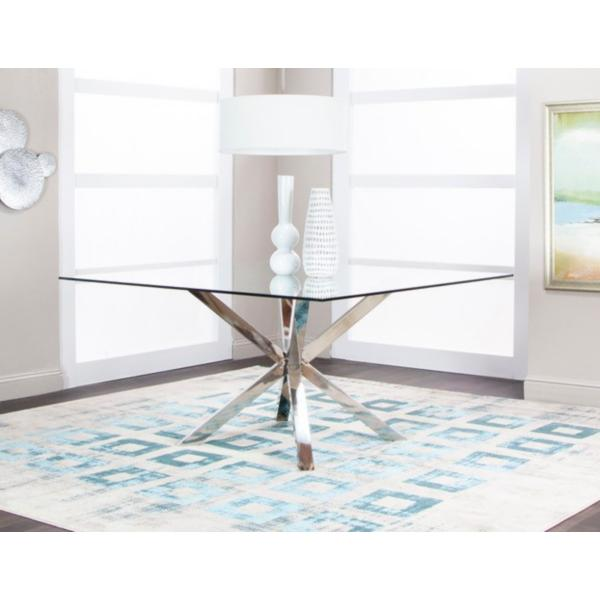 Classic Square Glass Dining Table