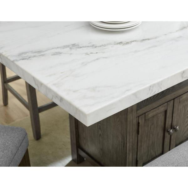 Grayson Counter Height Marble Top Table