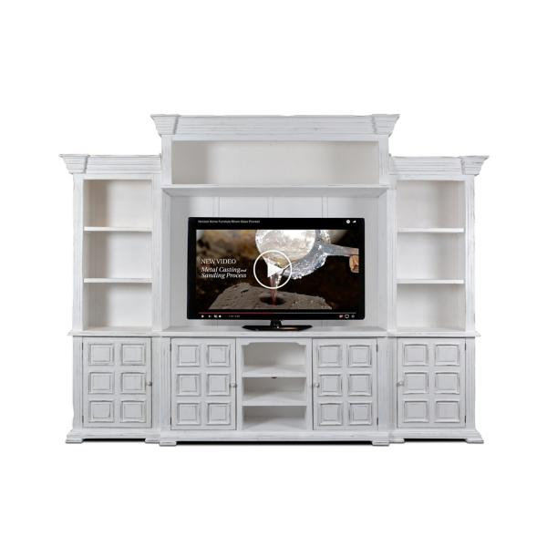 Marquis Entertainment Wall - WHITE WASH