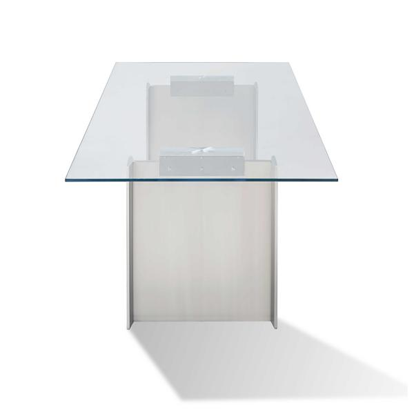 Omnia Glass Top Dining Table