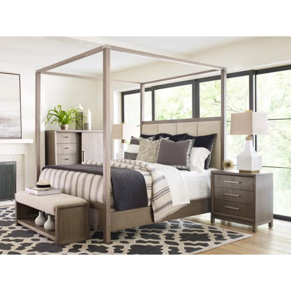 Rachael Ray Home - Highline King Upholstered Poster Bed