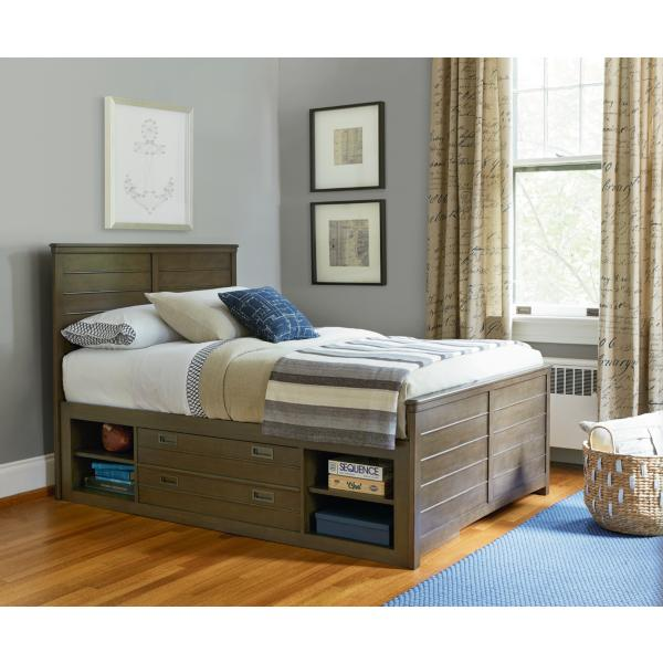 Varsity Reading Bed with Underbed Storage - TWIN
