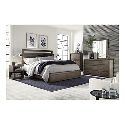 Modern Loft Greystone Queen Panel Bed