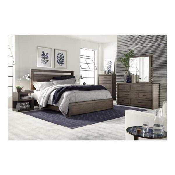 Modern Loft Greystone Panel Bed
