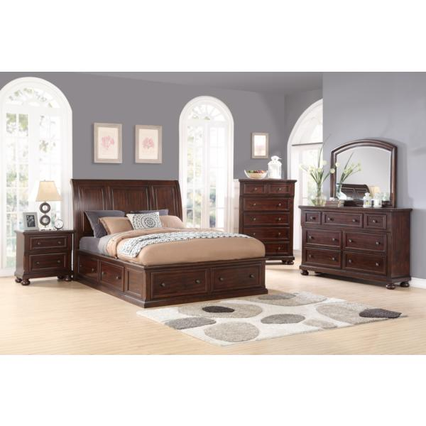 Hanover Sleigh All Around Storage Bed