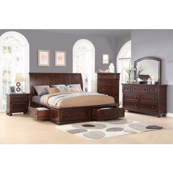 Hanover Queen Sleigh All Around Storage Bed