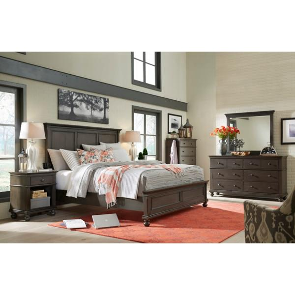 Oxford Peppercorn Panel Bed