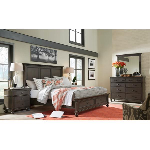 Oxford Peppercorn Panel Bed with Storage Footboard