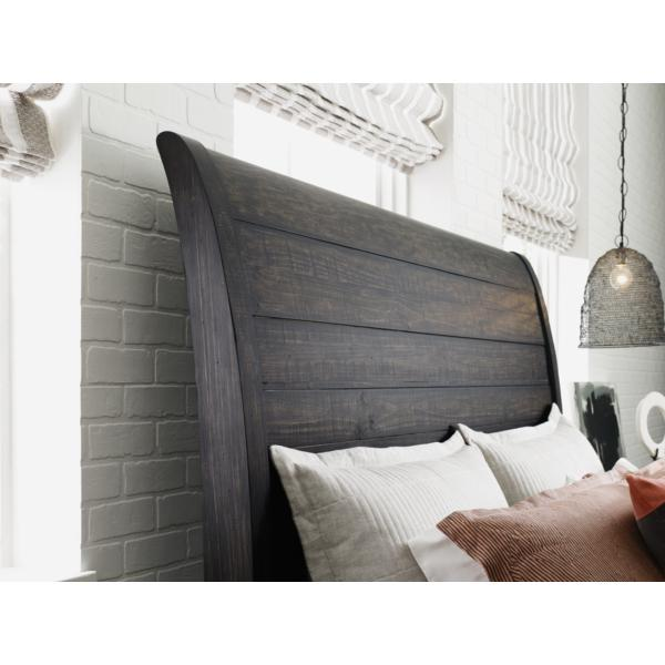 Plank Road Eastburn Charcoal Sleigh Bed