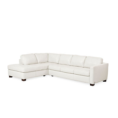 Denver Leather Sofa Chaise Sectional Laf Ivory Star Furniture