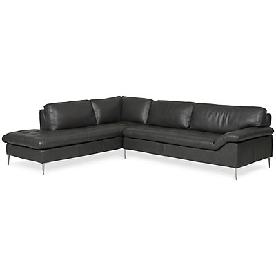 Dino Leather Chaise Sectional (LAF)