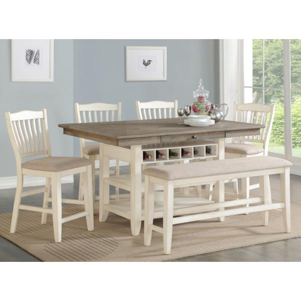 Garth White Base Counter Table