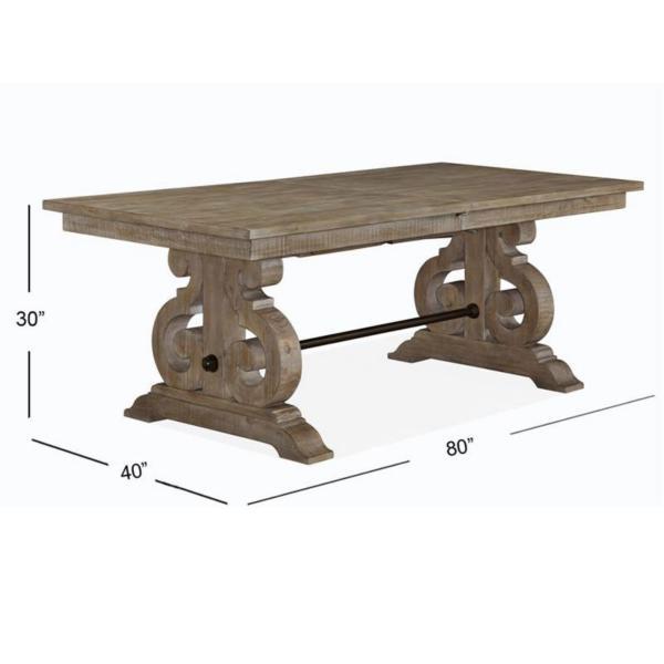 Treble Rectangular Dining Table