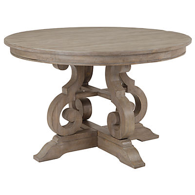 Treble 48 Inch Round Dining Table - DOVE TAIL GREY