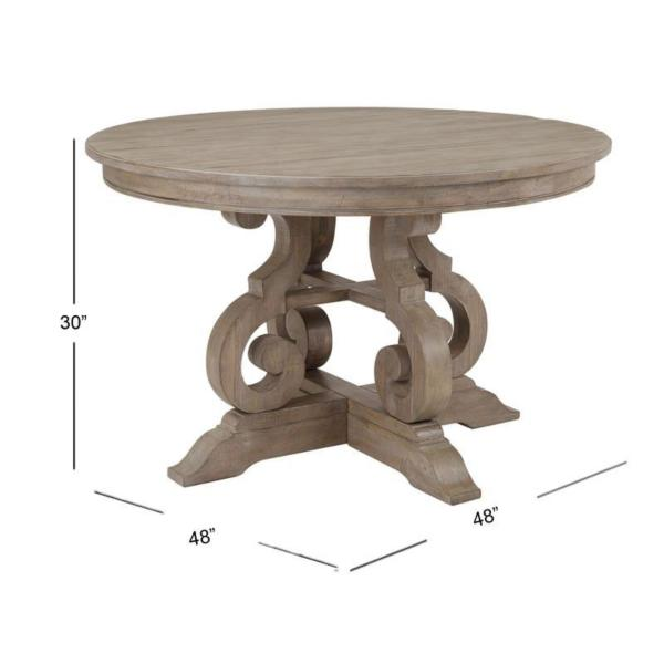 Treble 48-inch Round Dining Table