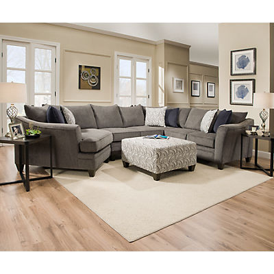 Albany 3-Piece Sectional - PEWTER