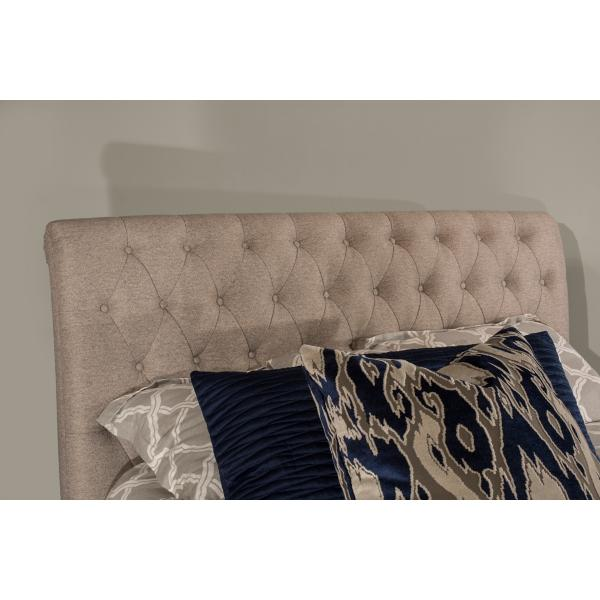 Heather Upholstered Sleigh Bed