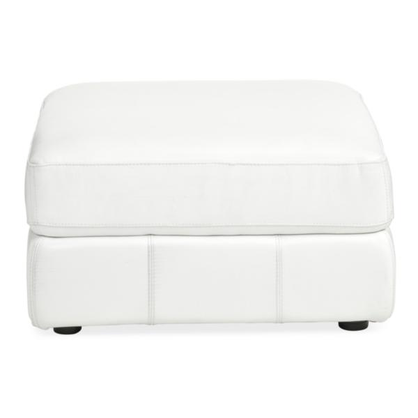 Penthouse Leather Ottoman - CREAM
