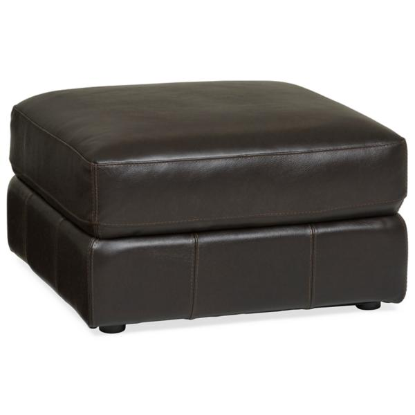 Penthouse Leather Ottoman - JAVA