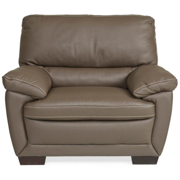 Denver Leather Chair - DARK TAUPE