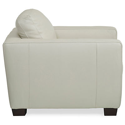 Denver Leather Chair - IVORY