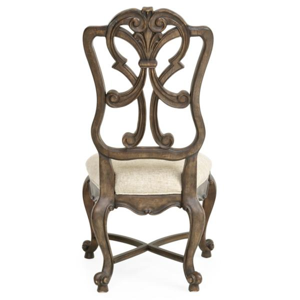 Rhapsody Carved Wood Back Side Chair