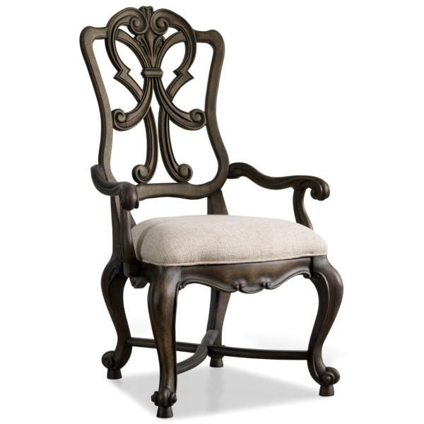 Rhapsody Carved Wood Arm Chair