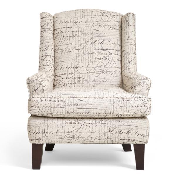 Andrea Script Wingback Chair
