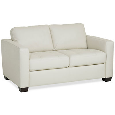 Denver Leather Loveseat - IVORY