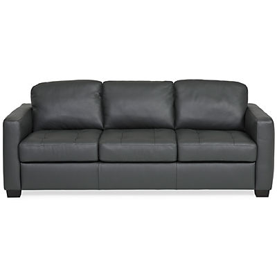 Denver Leather Sofa Anthracite Star Furniture