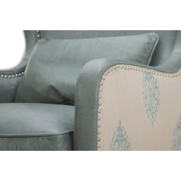 Silver Lake Leather Wing Chair