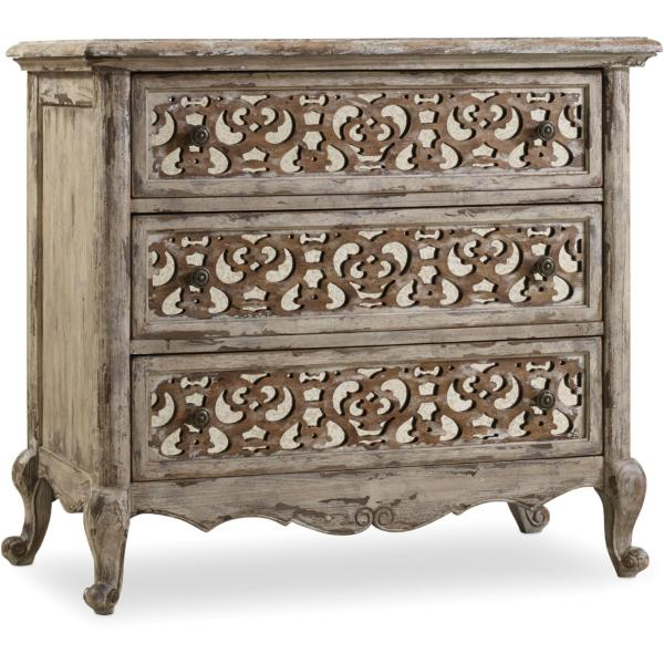 Chatelet 3 Drawer Fretwork Nightstand