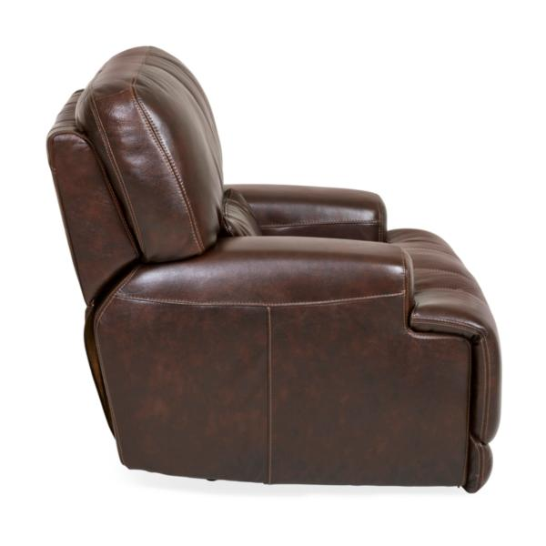 Stampede Leather Manual Recliner - COFFEE