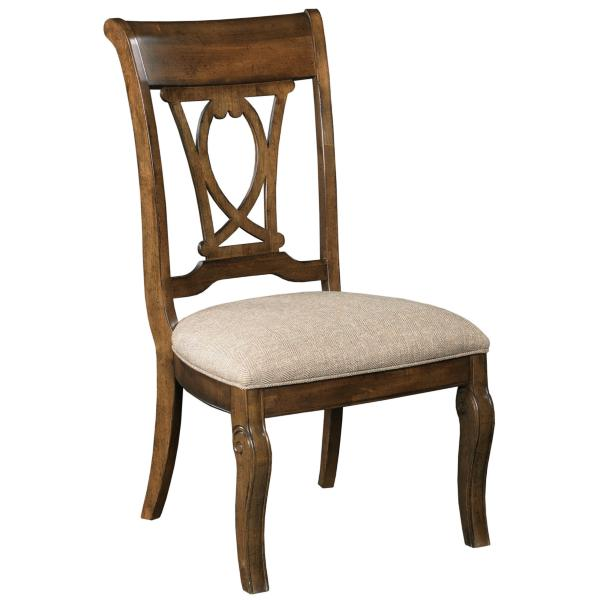 Portolone Harp Wood Back Side Chair