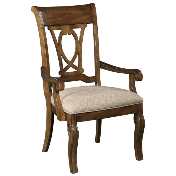 Portolone Harp Wood Back Arm Chair