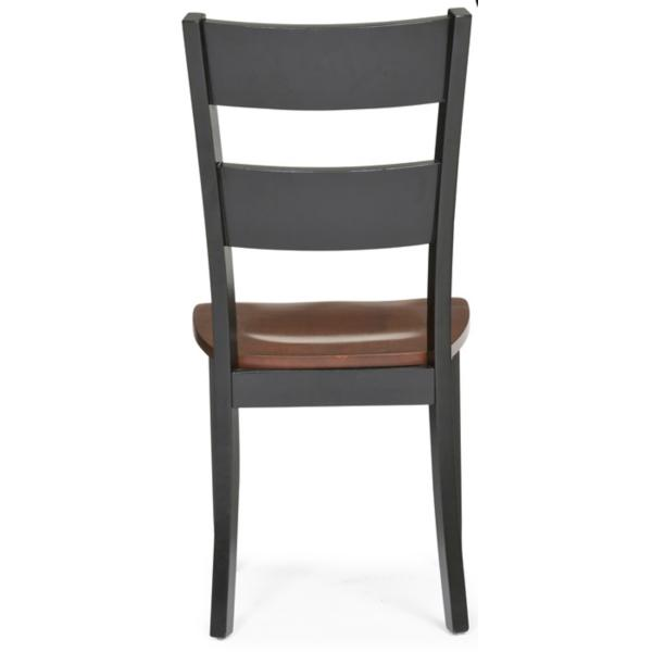 Madera Dining Side Chair - Black/Caramel Finish