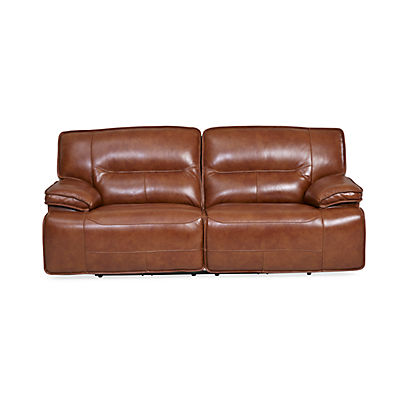 Stampede Leather Power Reclining Sofa - CHESTNUT