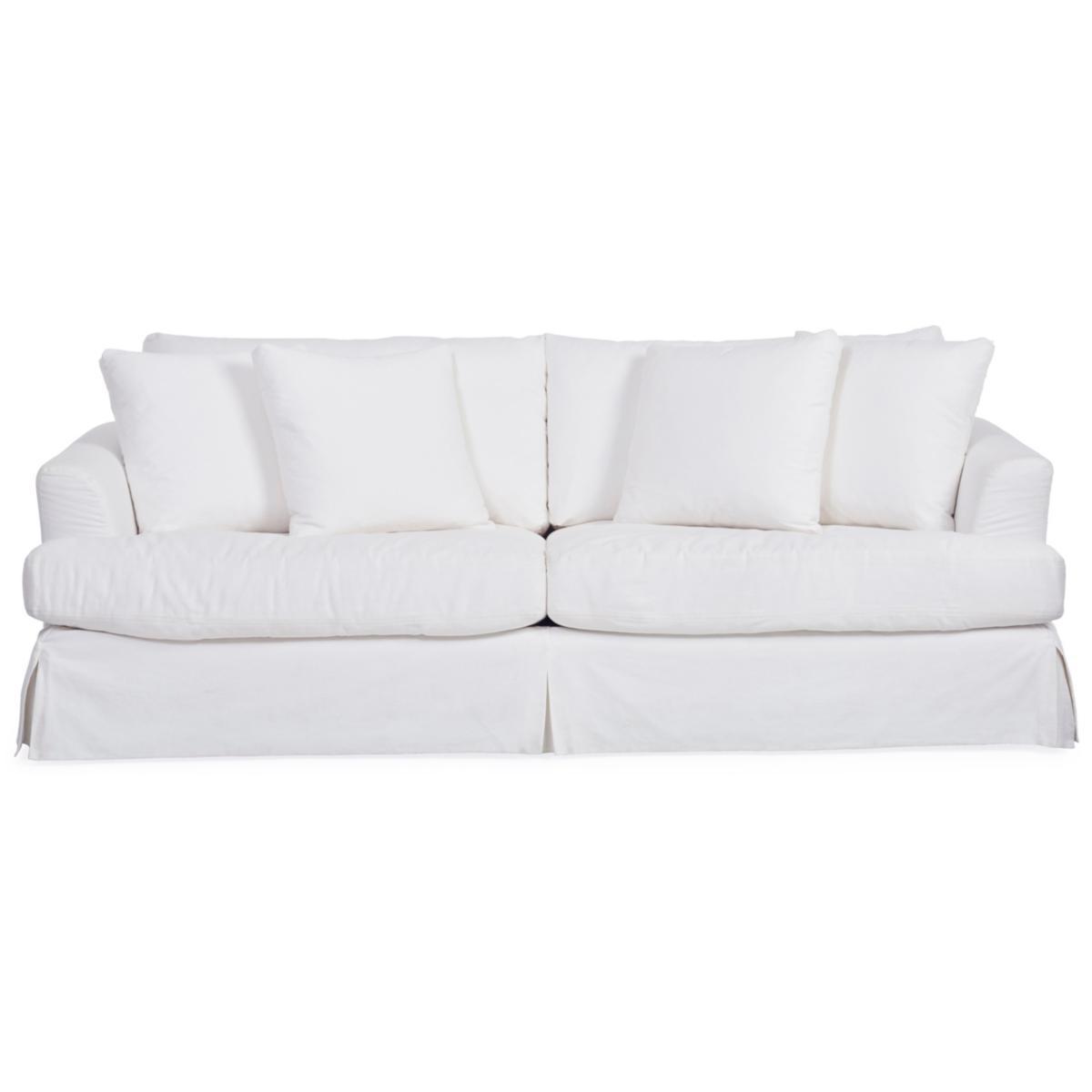Lily Slipcovered Sofa White Star