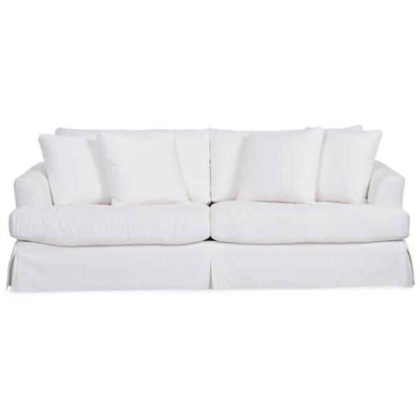 Lily Slipcovered Sofa - WHITE