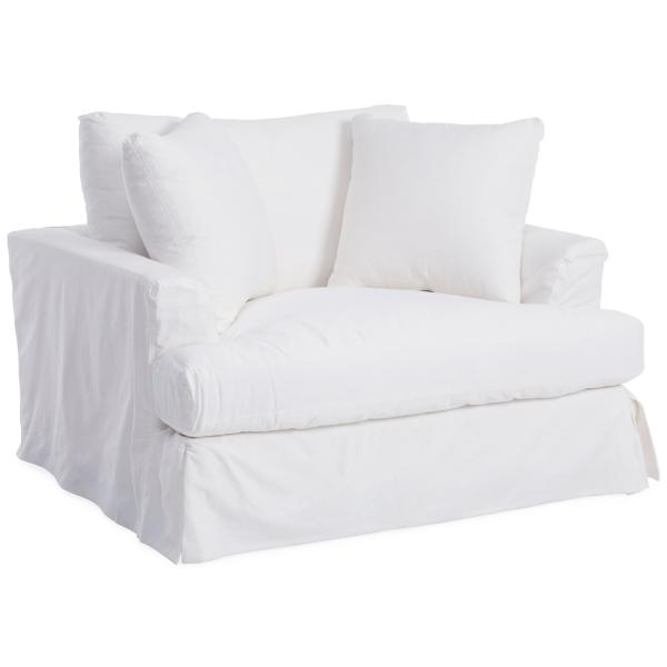 Lily Slipcovered Chair - WHITE