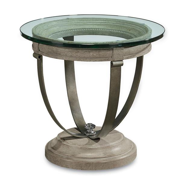 Arch. Salvage Moss Lamp Table