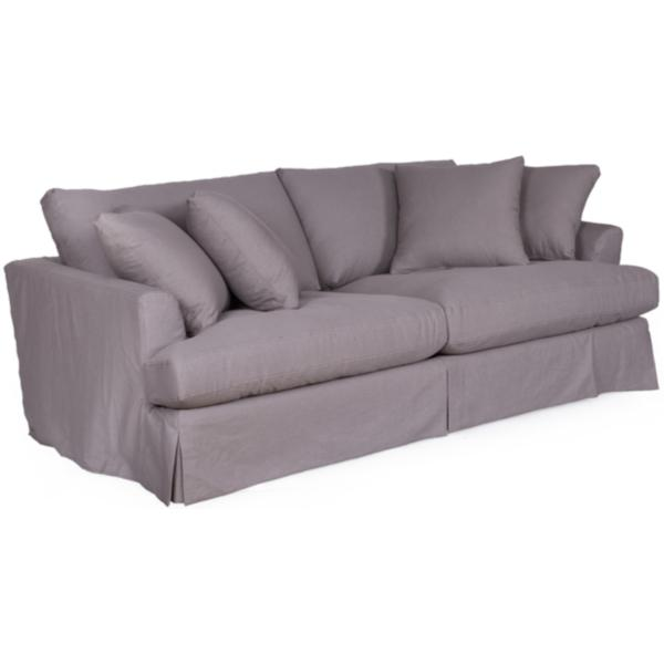 Lily Slipcovered Sofa - GRANITE