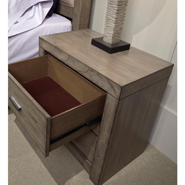 Modern Loft Greystone 2 Drawer Nightstand with Power
