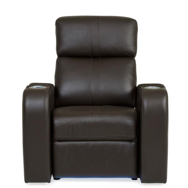 Flick Leather Power Theatre Recliner - BROWN