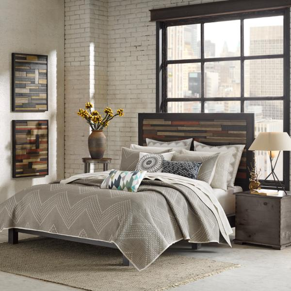 Pomona 3-Piece Coverlet Set - KING - TAUPE