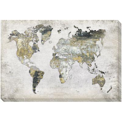 Terra Map Canvas Art